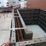 EDB - industrie - Coffrage du massif pour recevoir ascenseur