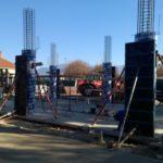 EDB - Industrie- Coffrage des piliers béton